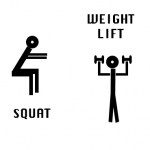 Anaerobic Training -Squat - weight lift